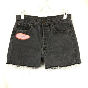 Levi's Woman's 32 Cut Off Black Faded Jeans